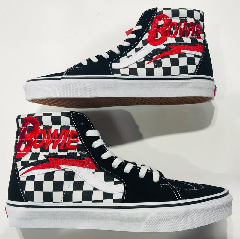 Bowie Vans Sk8 - Hi Checker board VNOA38GEVJO Famous Rock Shop Newcastle NSW Australia