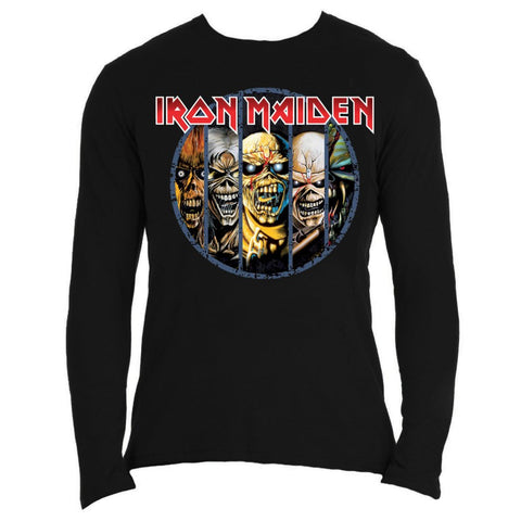 Iron Maiden Men's Long Sleeved Tee Eddie Evolution Famous Rock Shop 517 Hunter Street Newcastle, 2300 NSW Australia
