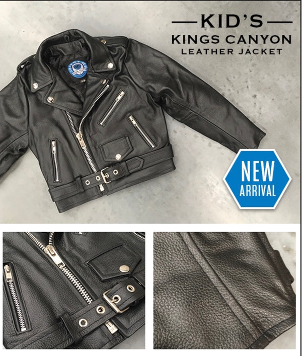JR KIDS KINGS CANYON LEATHER JACKET 1 Famous Rock Shop Newcastle 2300 NSW Australia