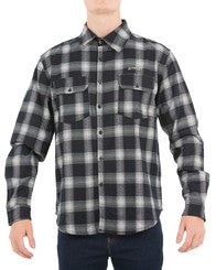 JetPilot All Day Mens Flanno Shirt Mens W18722 Black White Famous Rock Shop Newcastle NSW Australia
