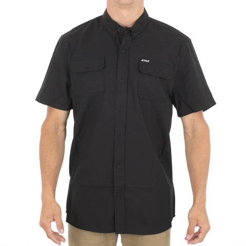 Jet Pilot Chambray S/S Shirt Black 2S16729