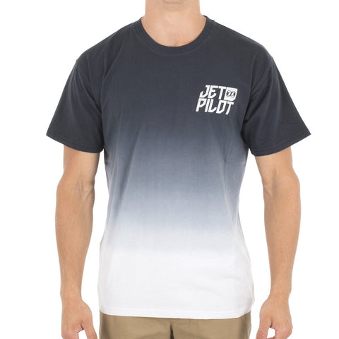 Jet Pilot Dipped Tee Black White 2S16623