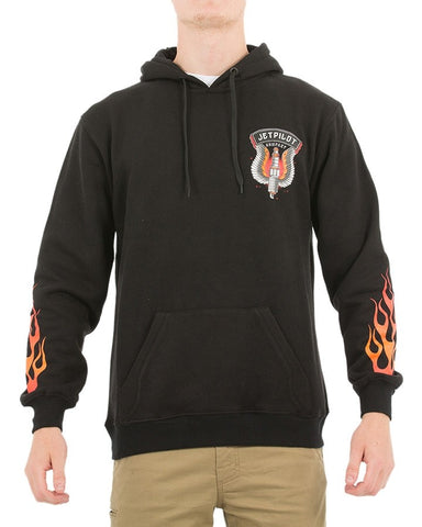 Jetpilot Light It Up  Mens W18715  Black Fleece   Famous Rock Shop Newcastle NSW Australia