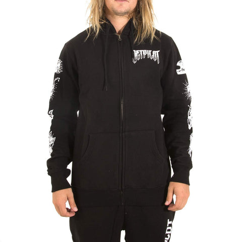 Jet Pilot Risk It All Zip Up Hoodie Black White W16961 Famous Rock Shop. 517 Hunter Street Newcastle, 2300 NSW Australia