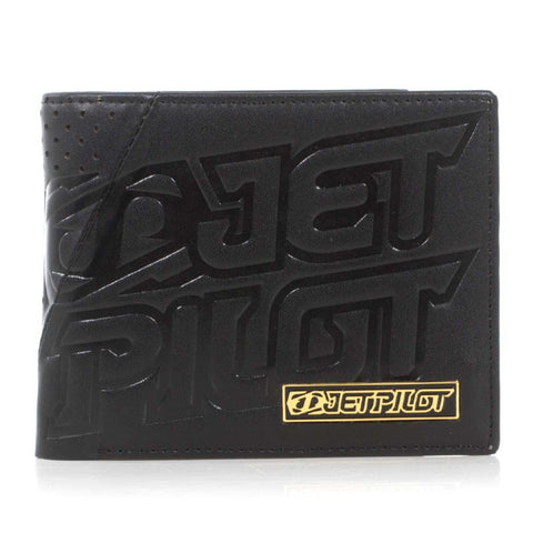 Jetpilot Cashed Up Leather Wallet Black ACS15316