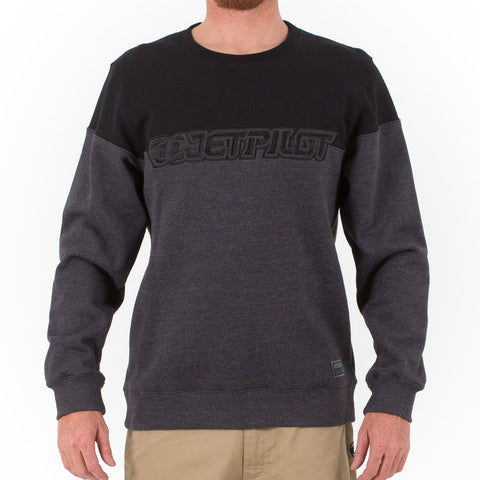 Jetpilot Clean Cut Men's Crew Jumper Black Ash