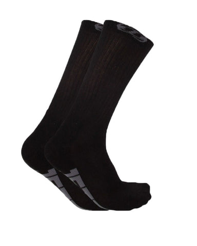 Jetpilot Corp Men's Crew Socks Black 5 Pack ACS17326 Famous Rock Shop Newcastle 2300 NSW Australia