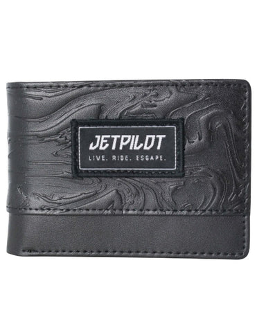 Jetpilot On Par Leather Wallet Black