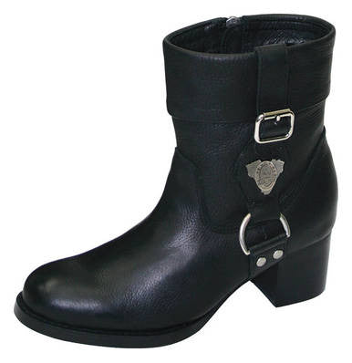 Johnny Reb Jenny Reb Women's Break Out Black Leather Boots JR28275