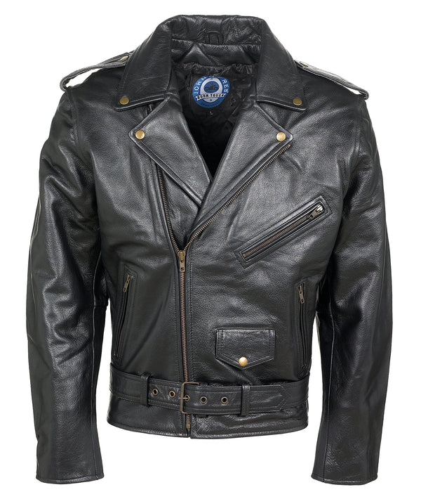 Johnny Reb Kings Canyon Black Leather Jacket JRJ10008 BRANDO Famous Rock Shop Newcastle 2300 NSW Australia