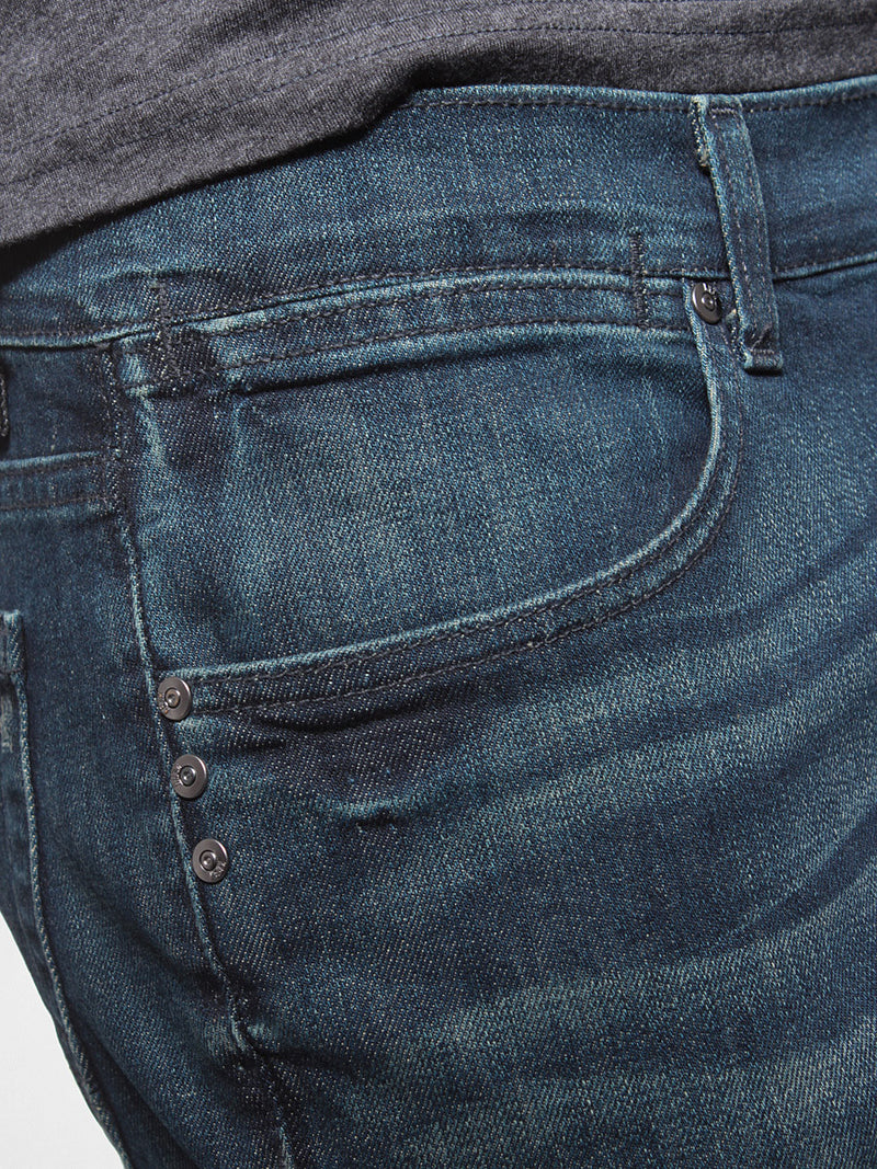 KR3W K Slim Taper Denim Jeans Worn Blue K45627