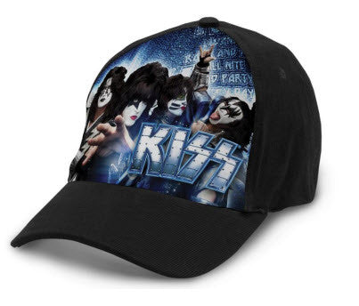 Kiss Cap Embossed Clip at back