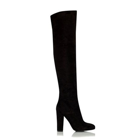 Billini Lara Black Vegan Suede Knee High Boots