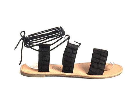 Hael & Jax Lily Black Leather Sandals