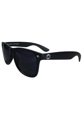 LKI Sunglasses Black LKI Promotional Sunglasses Contrast coloured arms with logos Good UV protection. Famous Rock Shop. 517 Hunter Street Newcastle, 2300 NSW Australia
