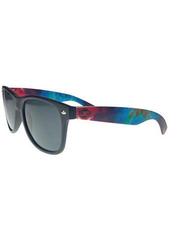 LKI Sunglasses Black Multi colour LKI Promotional Sunglasses Contrast coloured arms with logos Good UV protection Famous Rock Shop. 517 Hunter Street Newcastle, 2300 NSW Australia