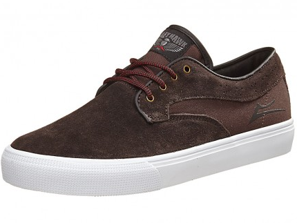 Lakai RILEY HAWKE skate shoe chocolate suede