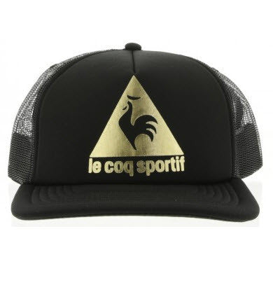 Le Coq Sportif Practice Trucker Cap Black & Gold 2720971  Famous Rock Shop Newcastle, 2300 NSW. Australia.