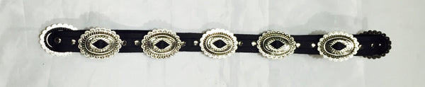 FRSW201 Adjustable Leather Concho Belt Morrison #1