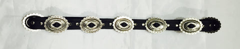 FRSW201 Adjustable Leather Concho Belt Morrison #1 Famous Rock Shop