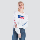 Levi's Graphic Rax Cut Hem Sweatshirt Star White 563400009 Famous Rock Shop Newcastle, 2300 NSW. Australia. 1