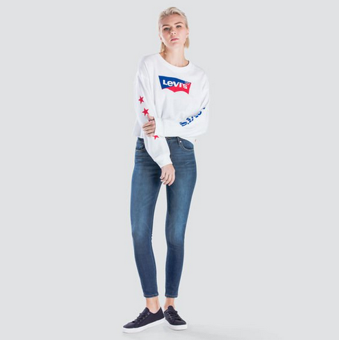 Levi's Graphic Rax Cut Hem Sweatshirt Star White 563400009 Famous Rock Shop Newcastle, 2300 NSW. Australia. 2
