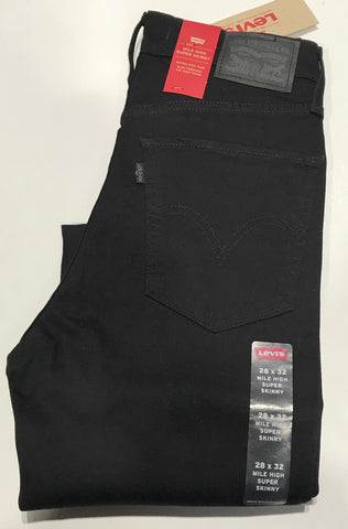 Levi's Mile High Super Skinny Black Famous Rock Shop Newcastle 2300 NSW Australia