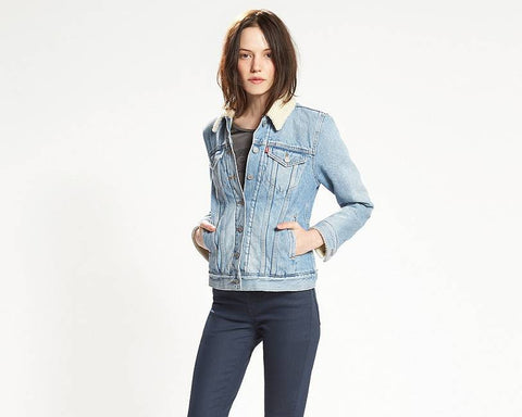 Levi's Boyfriend Sherpa Jacket River Bank 197360000