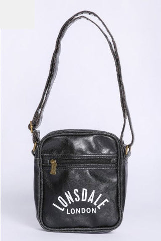 Lonsdale Alfred Satchel Bag Black LB15703