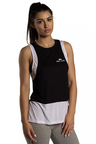 Lonsdale London Britney Tank Black White