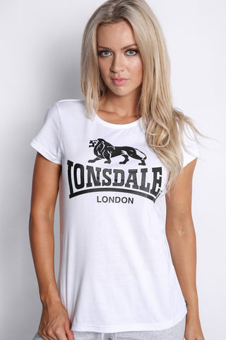 Lonsdale Cherry T-shirt White Black LWE401T
