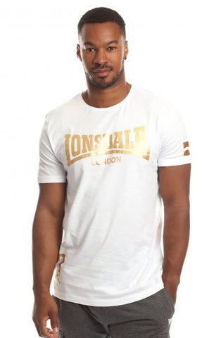 Lonsdale Hodge T-Shirt White Gold