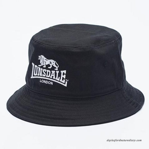 Lonsdale London Brighton Bucket Hat Black LE607C Famous Rock Shop Newcastle 2300 NSW Australia
