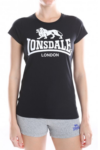 Lonsdale London Cherry T-Shirt  Black/White LWE401T