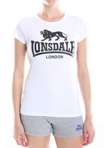 Lonsdale London Cherry T-Shirt  White / Black LWE401T