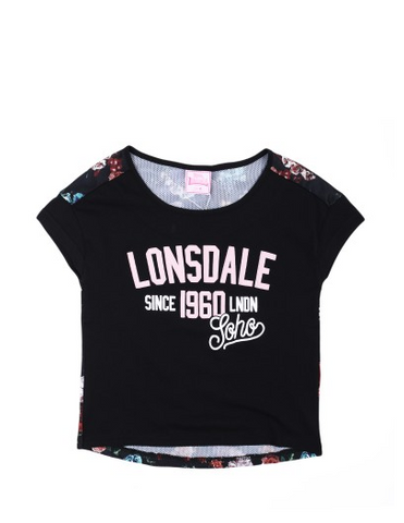 Lonsdale London Dorset Top Black/Floral