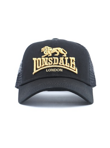 Lonsdale London Frankston Black/Gold Hat LE606C