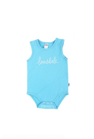 Lonsdale London Luca Babies Romper Maui Blue BE802GS