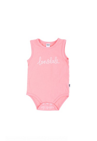 Lonsdale London Luca Babies Romper Salmon Rose BE802GS
