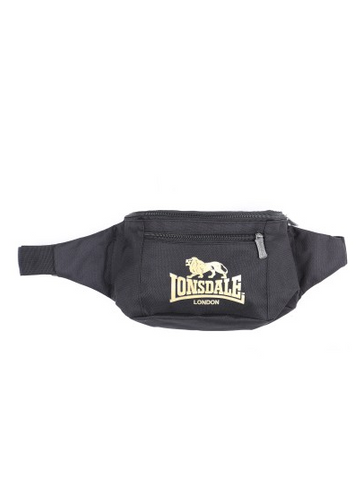 Lonsdale London Parson Waist Bum Bag Black/Gold LBE709