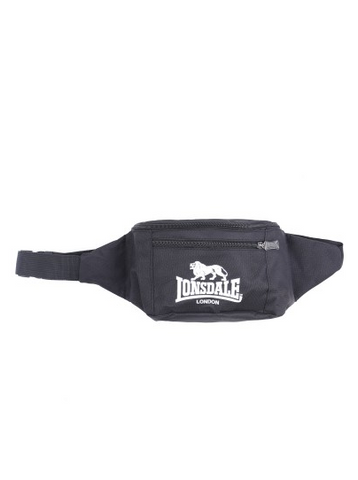 Lonsdale London Parson Waist Bum Bag Black White LBE709