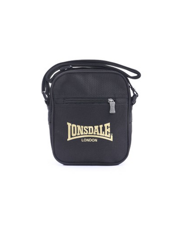 Lonsdale London Sterling Satchel Bag Black/Gold LBE708