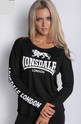 Lonsdale Orson Long Sleeved T-shirt Black LL15204LS