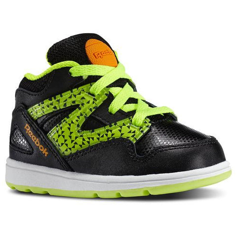 Reebok Kid's Toddler Versa Pump Omni Lite Black/ Yellow/ Orange/ White