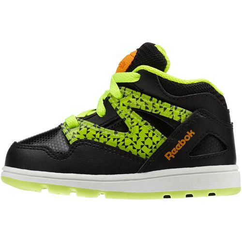 Reebok Kid's Toddler Versa Pump Omni Lite Black Yellow Orange White