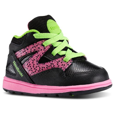 Reebok Kid's Toddler Versa Pump Omni Lite Black/ Pink/ Green