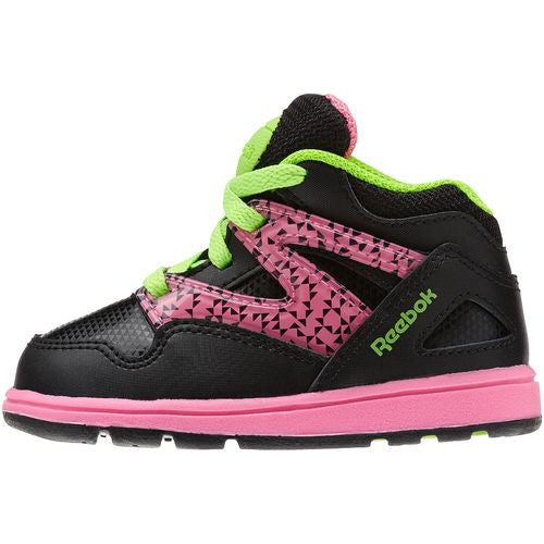 Reebok Kid's Toddler Versa Pump Omni Lite Black Pink Green