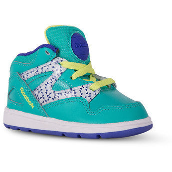 Reebok Kid's Toddler Versa Pump Omni Lite Teal White Purple Green