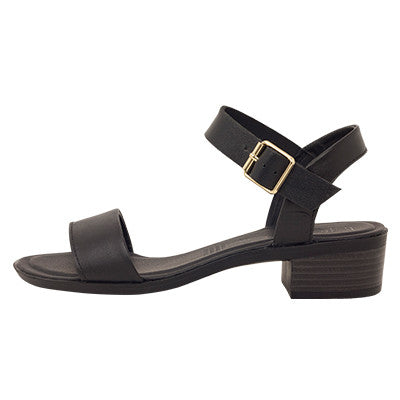 Roc Mardi Black Leather Sandals
