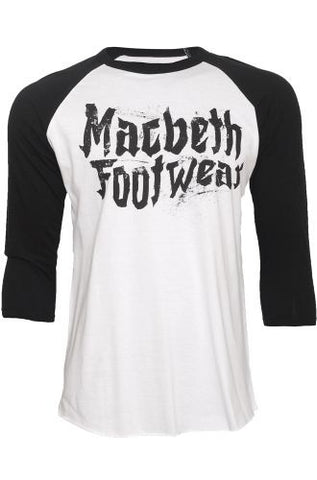 Macbeth Punk Vegan 3/4 Raglan Black